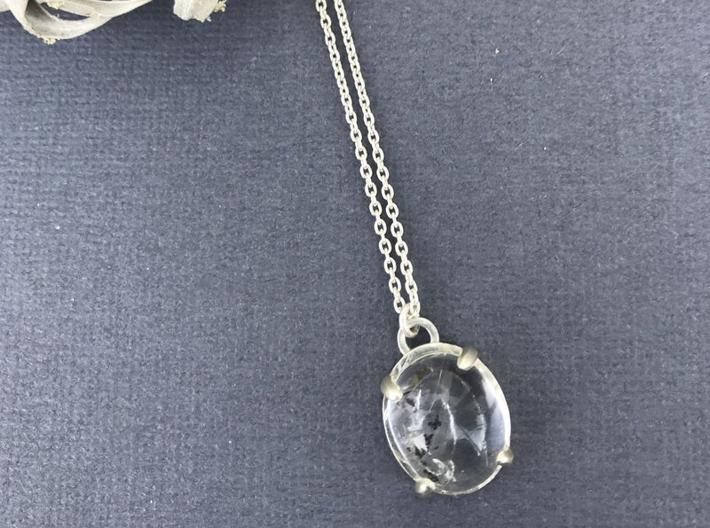 Aislinn quicksand enhydro quartz sterling silver necklace necklace Amanda K Lockrow