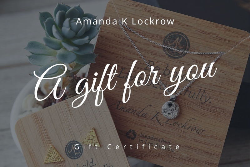 Amanda K Lockrow Gift Certificate gift card Amanda K Lockrow