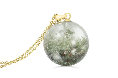 lodalite with mica sphere necklace