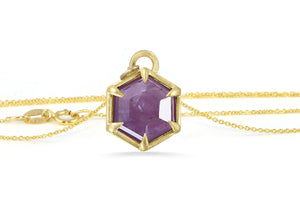 star sapphire gold necklace