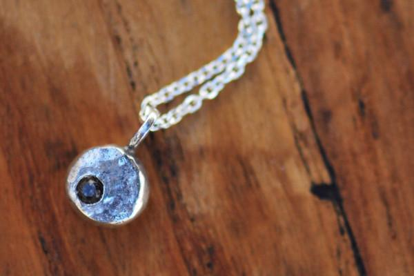 Elemental pebble sterling silver necklace necklace Amanda K Lockrow