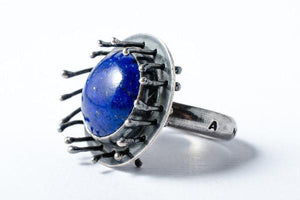 A new beginning sterling silver and lapis lazuli ring - Amanda K Lockrow