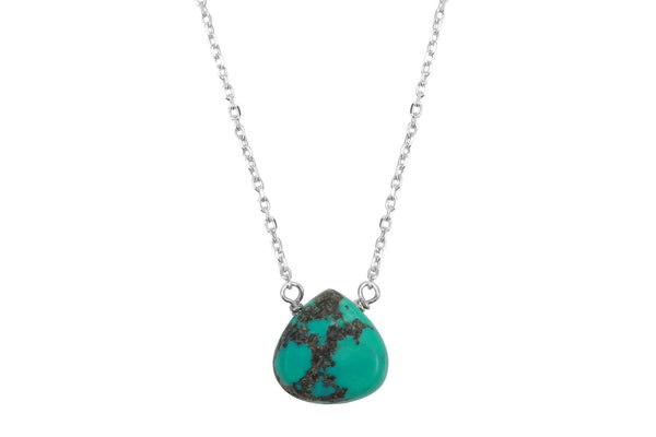 Turquoise Little Rock Sterling Silver Necklace - Amanda K Lockrow