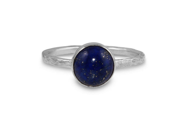 Lapis Lazuli 8mm sterling silver stacking ring