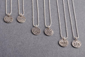 Little AMOR silver necklace-choose your word charm necklace