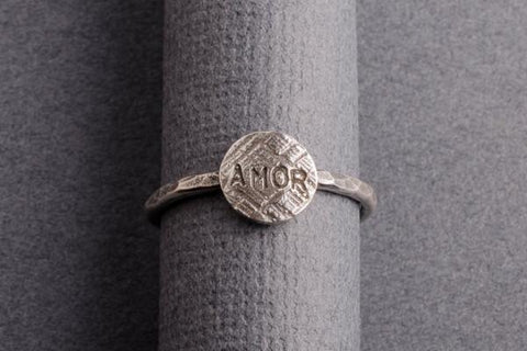 Amor sterling silver stacking ring - Amanda K Lockrow