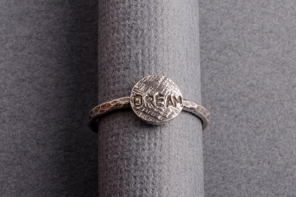 dream silver stacking ring