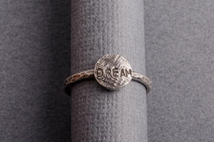 Dream sterling silver stacking ring - Amanda K Lockrow