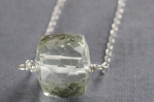 Green amethyst little rock necklace - Amanda K Lockrow