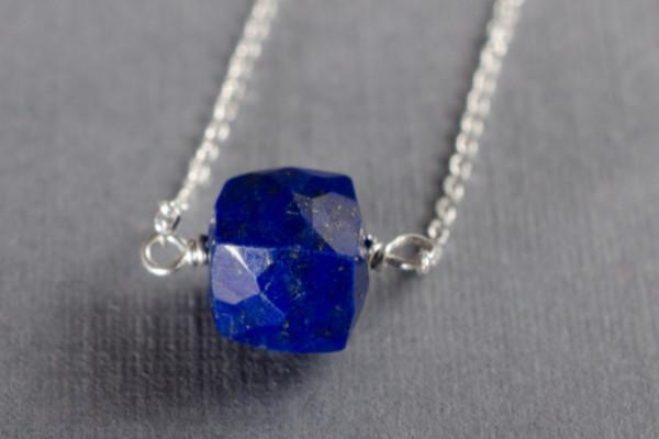 Lapis lazuli little rock necklace - Amanda K Lockrow