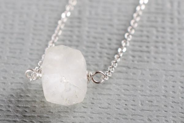 Moonstone little rock necklace- or choose your stone