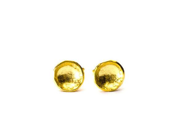 18k gold vermeil darling cup studs