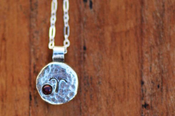 Elements aries zodiac necklace- sterling silver - Amanda K Lockrow