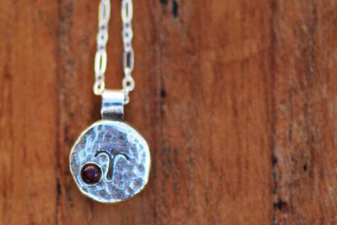 aries silver zodiac necklace