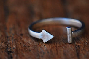 Follow your arrow midi ring - above the knuckle sterling silver ring - Amanda K Lockrow