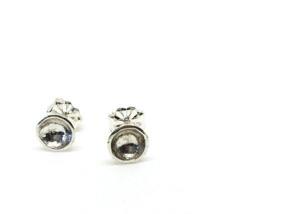 Silver darling mini bowl studs- sterling silver