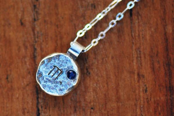 Elements scorpio zodiac necklace- sterling silver - Amanda K Lockrow