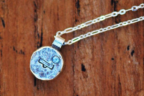 Elements libra zodiac necklace- sterling silver