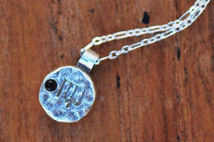 Elements virgo zodiac necklace- sterling silver - Amanda K Lockrow