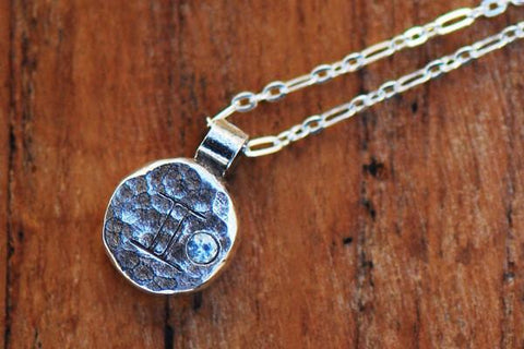 Elements gemini zodiac necklace- sterling silver - Amanda K Lockrow