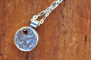 Elements sagittarius zodiac necklace- sterling silver - Amanda K Lockrow