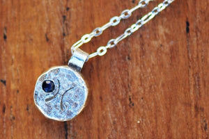 Elements pisces zodiac necklace- sterling silver - Amanda K Lockrow