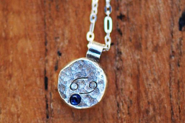 Elements cancer zodiac necklace- sterling silver