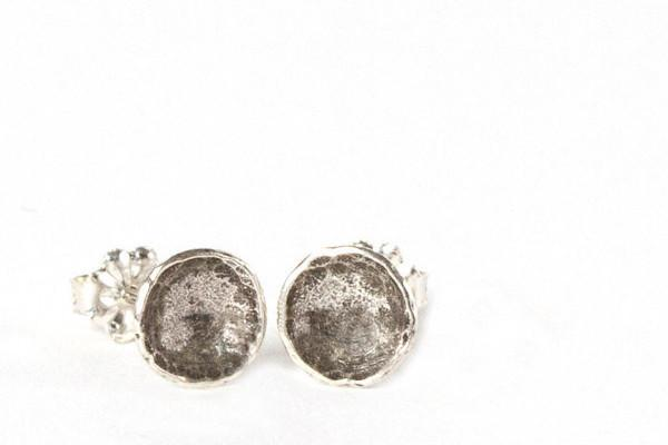 Darling cup studs- recycled sterling silver - Amanda K Lockrow