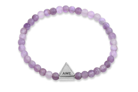 InCompass AWE bracelet - amethyst and sterling silver - Amanda K Lockrow