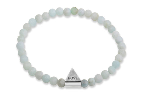 InCompass LOVE bracelet - aquamarine and sterling silver