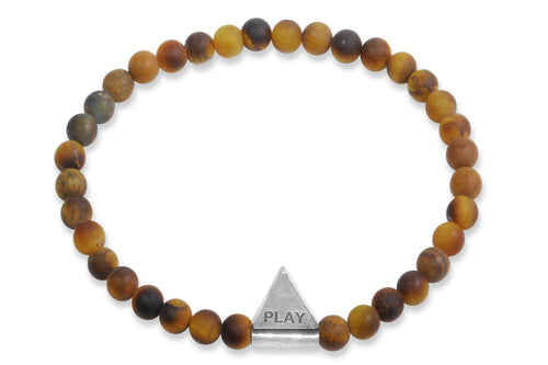 InCompass Play bracelet - tiger's eye and sterling silver - Amanda K Lockrow