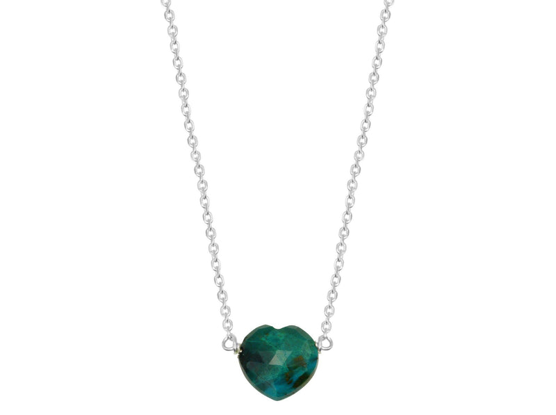 chrysocolla heart necklace