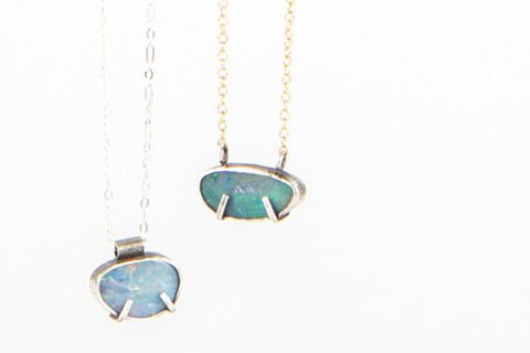 Boulder opal sterling silver Necklace - pick your stone