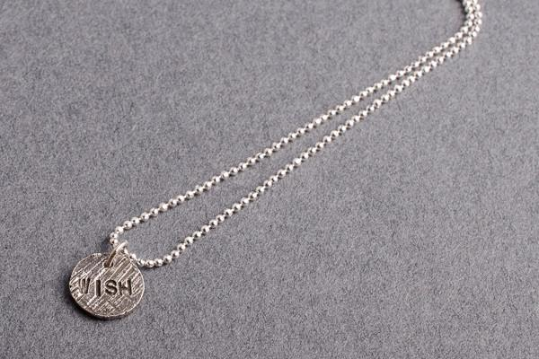 Tiny wish silver charm necklace