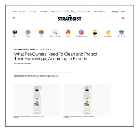 Featured in Best Pet Cleaning Products at the Strategist