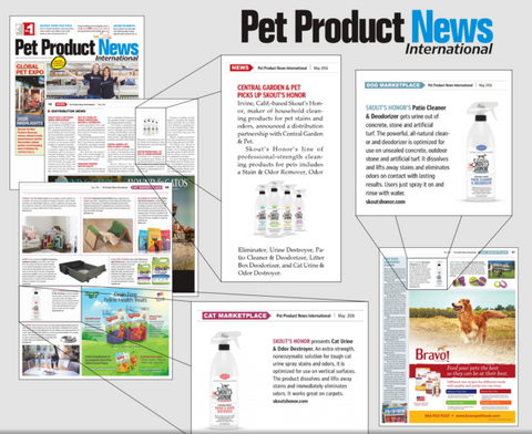Pet Product News Features Skout's Honor Dog and Cat Grooming Products