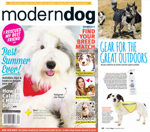 Featured Summer 2016 Issue - Modern Dog Magazine - Dog Cleaning Products