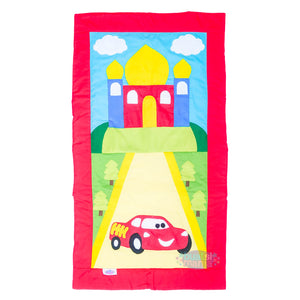 5. Car Design - Kids Prayer Mat With Name Customization