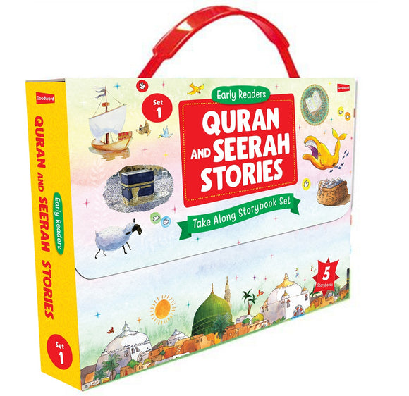 Quran and Seerah Stories: Take Along Storybook Set -1 (3 Paperback & 2 Hardbound)