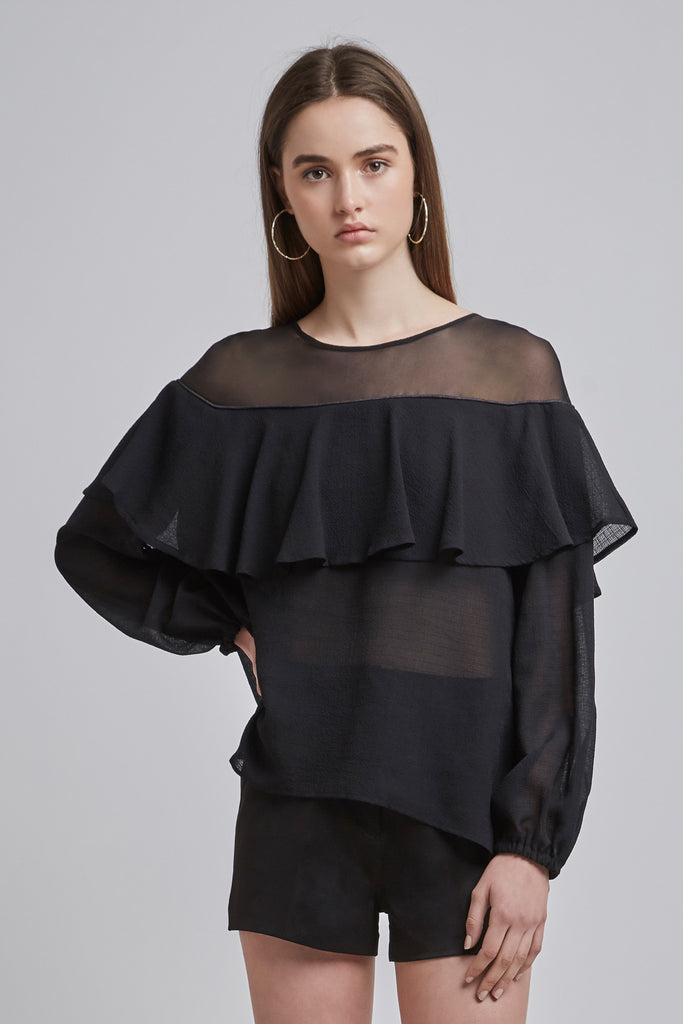 BOYD LONG SLEEVE TOP black