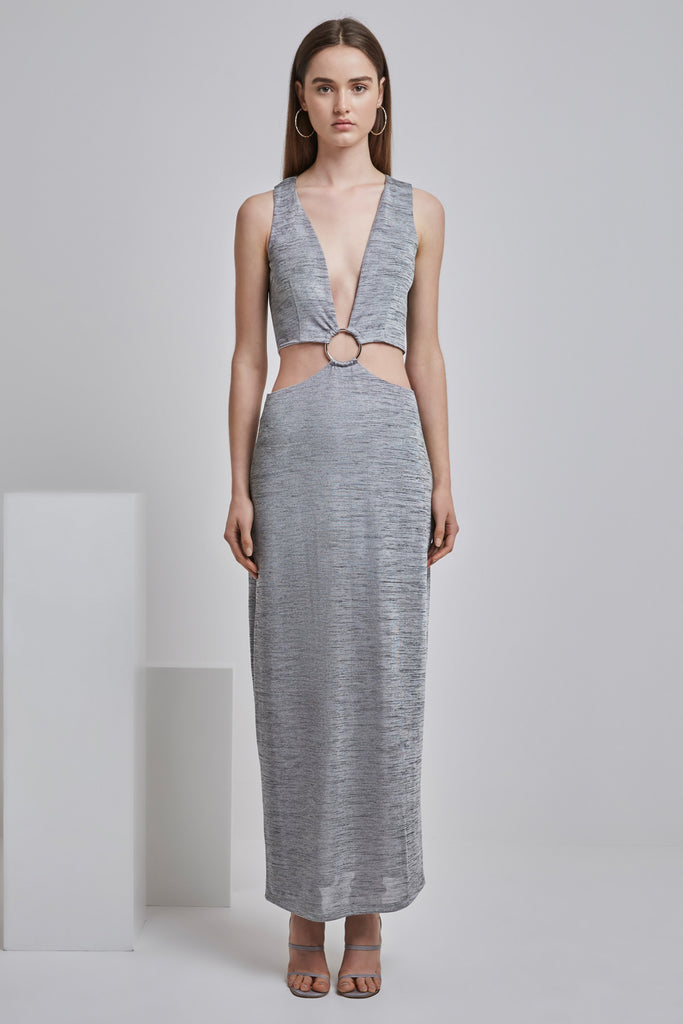 MAXWELL MAXI DRESS grey marle