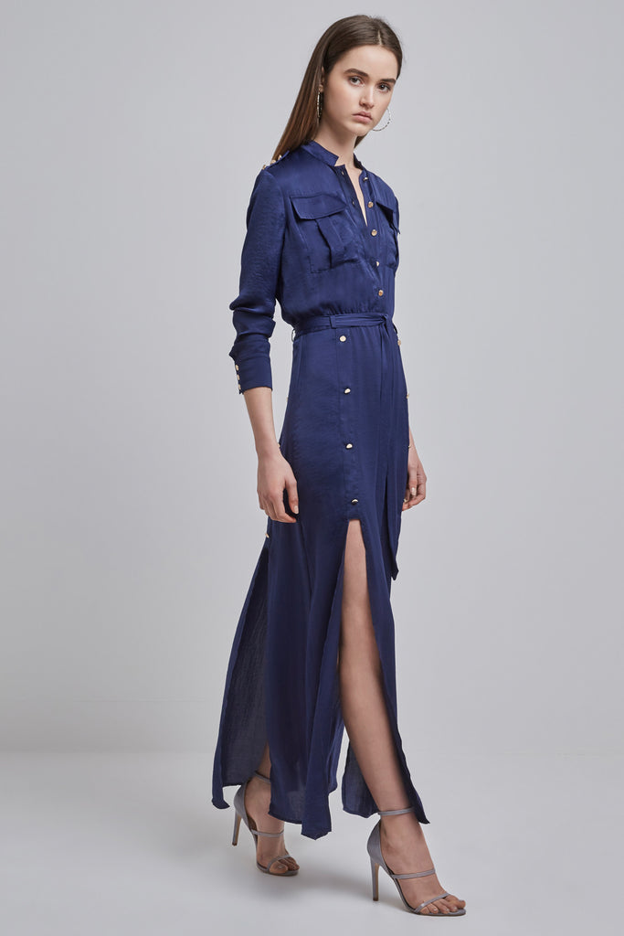 MAYNARD SHIRT DRESS navy