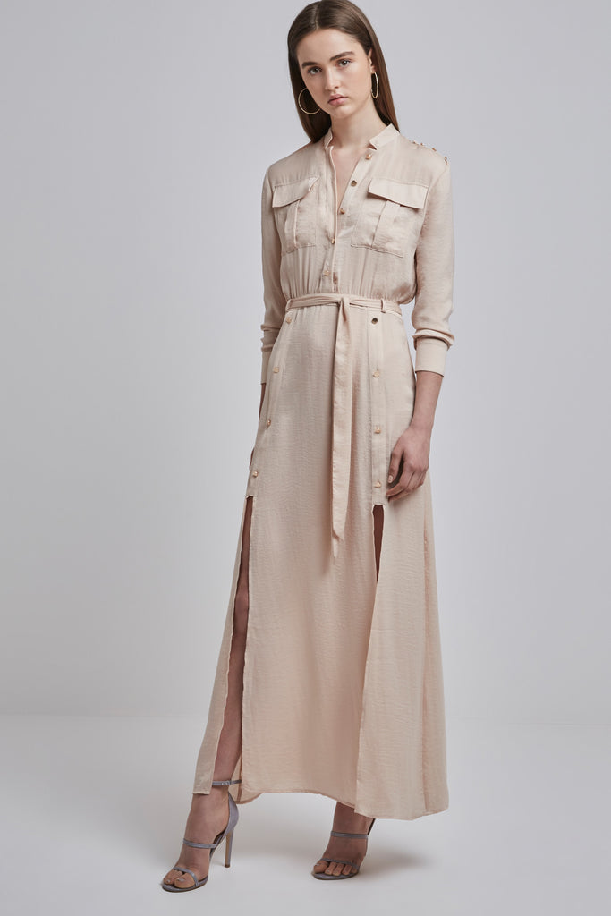 MAYNARD SHIRT DRESS sand