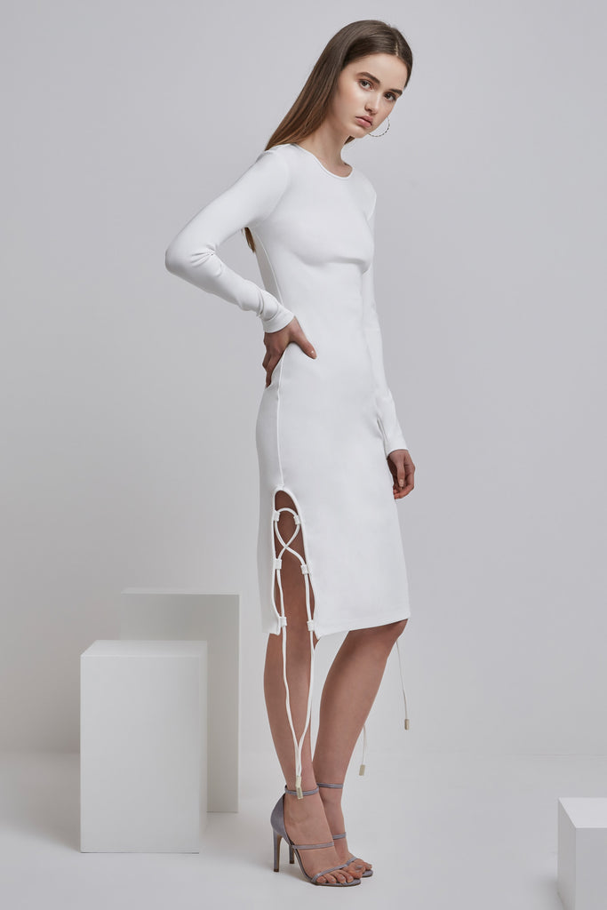 WESTON LONG SLEEVE DRESS cloud