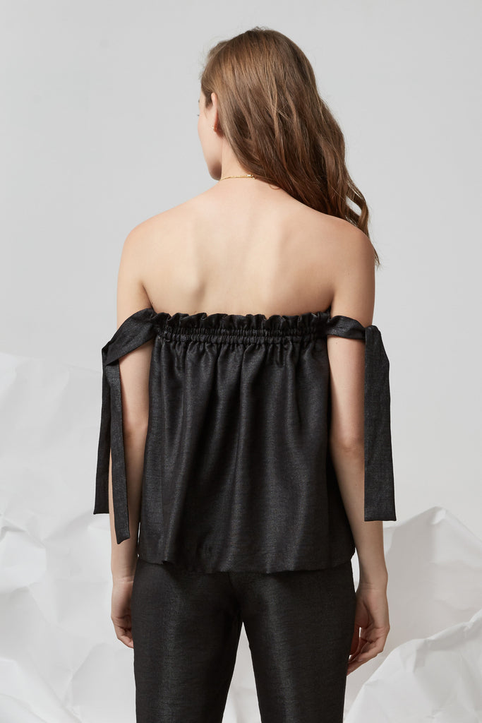 COCO TIE TOP black