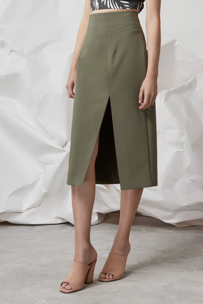 NO LIGHT SKIRT khaki