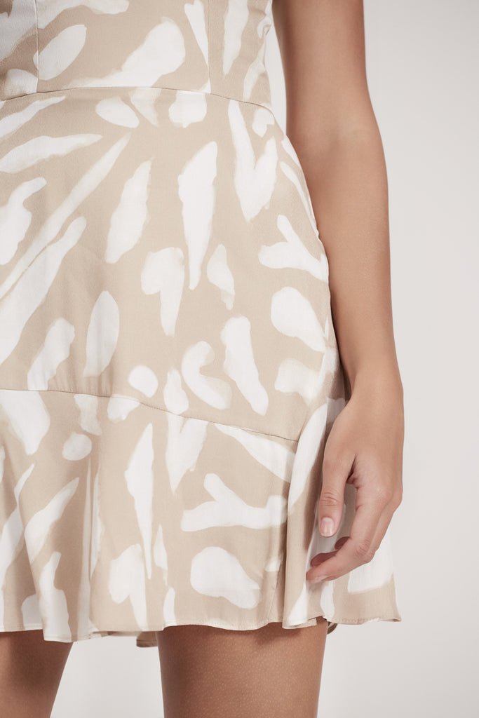 MERCURIAL MINI DRESS nude spot print