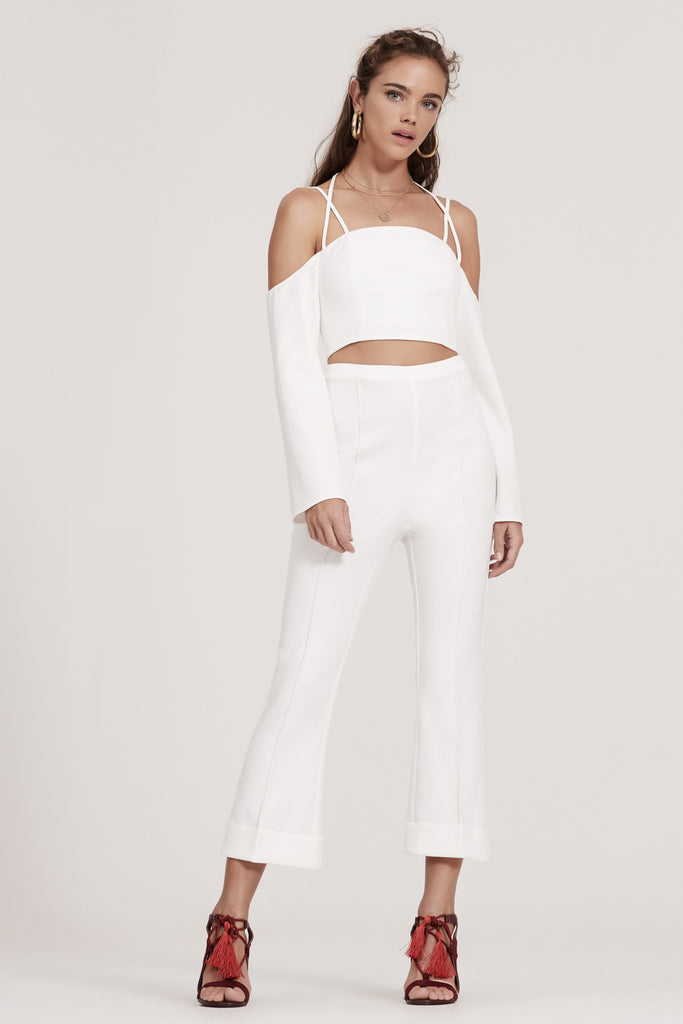MIRROR IMAGE CROP FLARE ivory