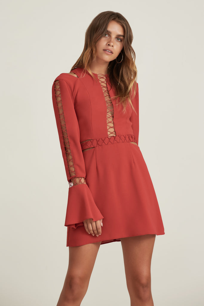 BORDERLINES DRESS flame