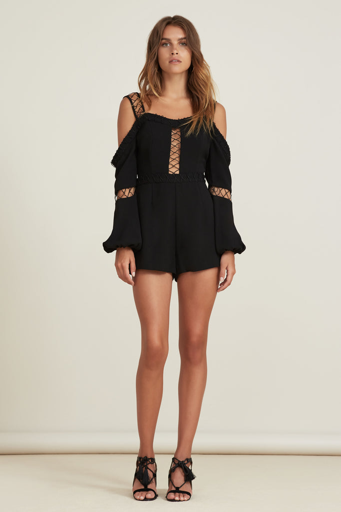 BORDERLINES PLAYSUIT black